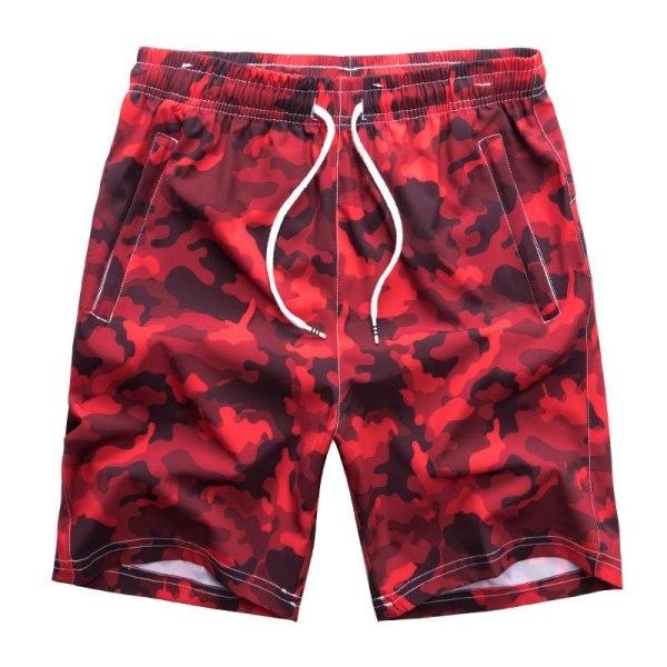 Herr badkläder ombord shorts, sommar baddräkt bermudastammar red 5XL