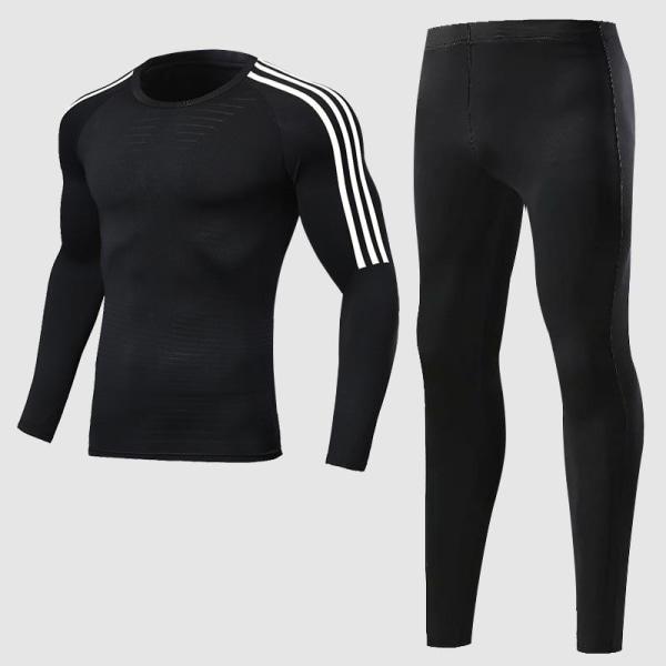 Herrträningsdräkt för män, gym / jogging / löpande tighta MTops - blue