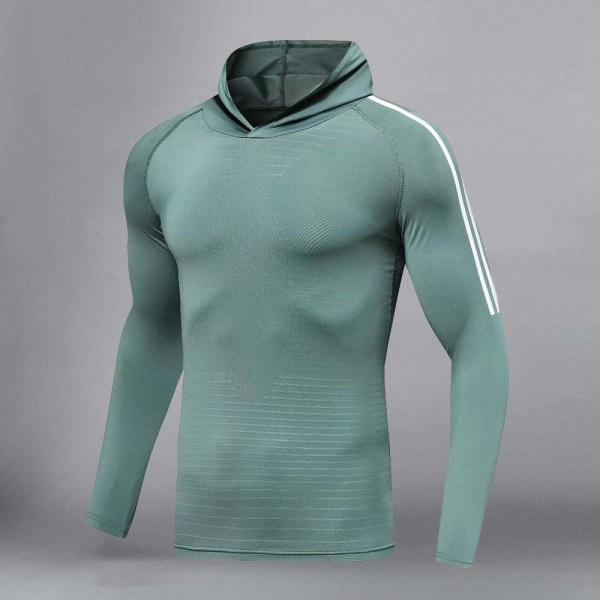 Herrträningsdräkt för män, gym / jogging / löpande tighta XXLTops - blue