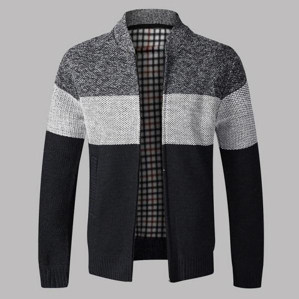 Herrtröja för män, ytterkläder varm vintertröja Navy 2 Asian Size XXXL