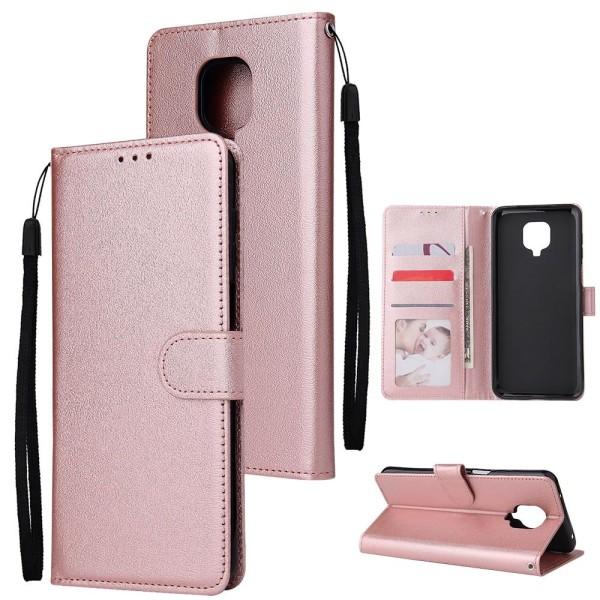 Läderplånbok, telefonväska, omslagssats typ 5 Pink For MI 10 Lite