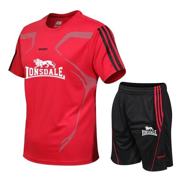 Män casual två delar kostym kortärmad t-shirt & shorts 5XLDJA23