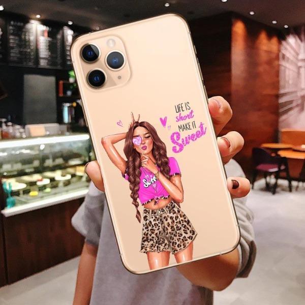Mjukt täcke prinsessa kvinnligt telefonväska för iphone For iPhone XS Max