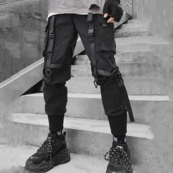 Ny hiphop-joggare, band med flera fickor, byxor med streetwear Asian Size XXXLG