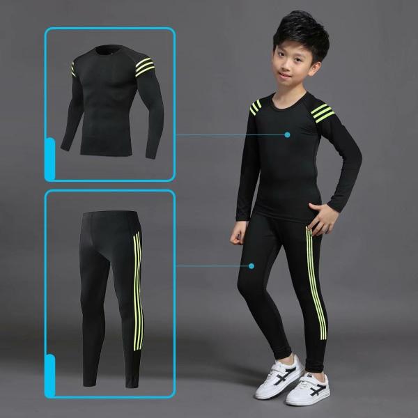 Pojkar vinter termiska underkläder uppsättningar, 24Set-C