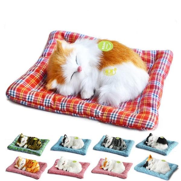 Simulering djur plysch leksak-söta sovande kattunge modeller G