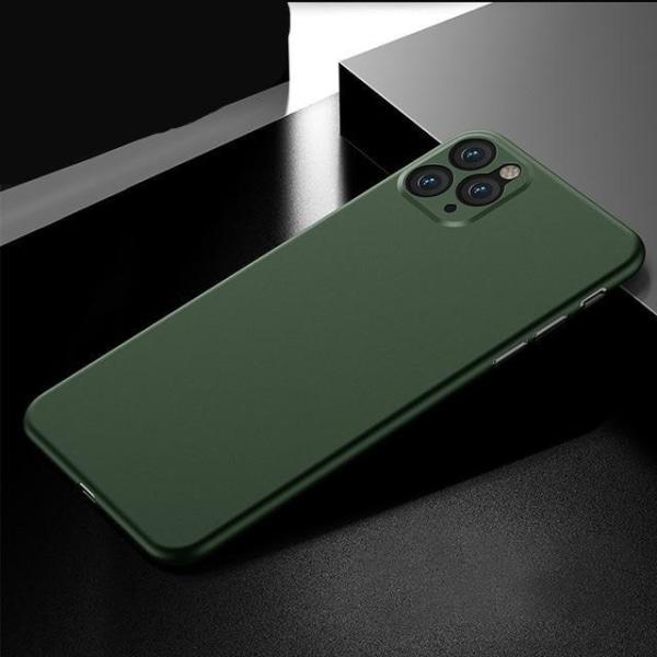 Ultratunn, stötdämpande 0.26mm pp fodral för iPhone Green For iPhone 12