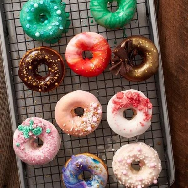 Bakplåt för Munkar, 12 st - Wilton Minimunkar Donut Pan Munkplåt