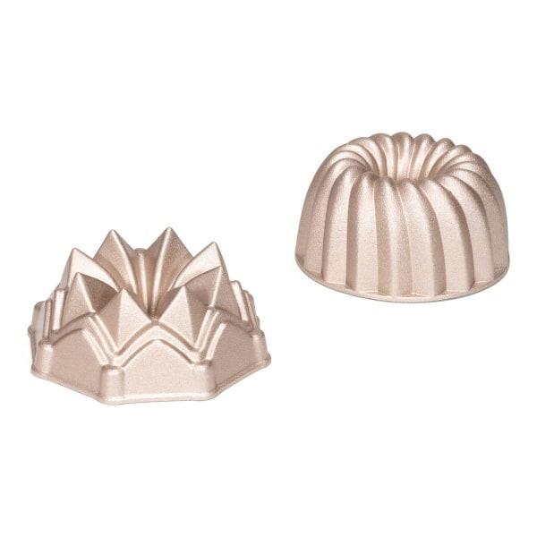 Sockerkaksformar Mini Set 2 Ø10cm 2-Pack - Patisse Silver
