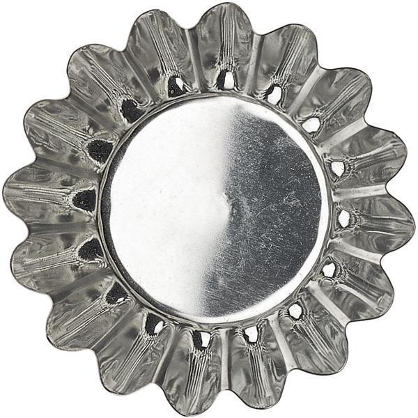 Mörmått/musselform 6 st, runda 7 cm – Gastromax silver