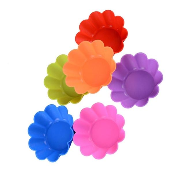 Muffinsformar i Silikon 6-Pack Silikonformar Blommor