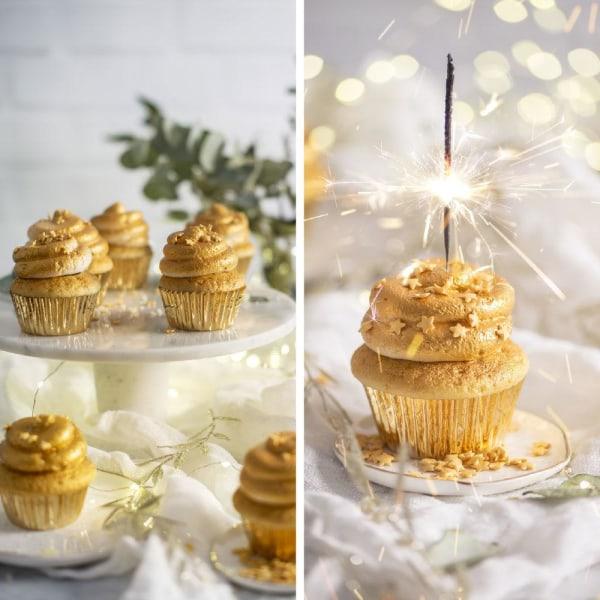 Guld Muffinsformar Folierade 60 st Cupcakes Muffins Formar -