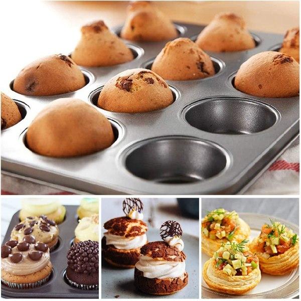 Muffinsplåt 12st Mini Muffins Bakform Bakplåt