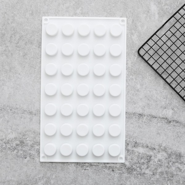 Små Runda 35st Silikonform Mousseform Pralinform