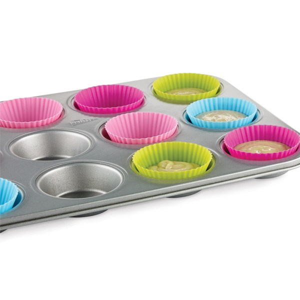 Muffinsformar i Silikon 6-Pack Silikonformar Formar Runda