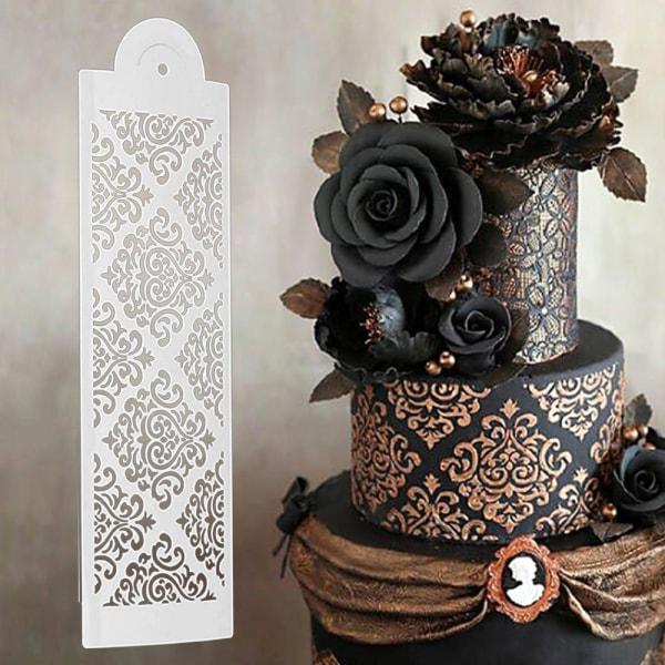 Tårtstencil Schablon Damask 3-Pack