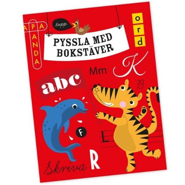 Pyssla med Bokstäver Pysselbok Pedagogisk - Ejvor flerfärgad