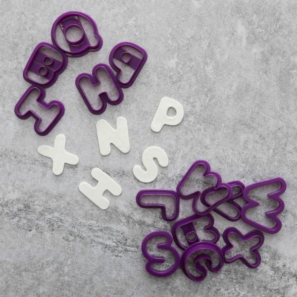 Sticker Letters Alphabet AZ - BakeCake fondant stencil multifärg