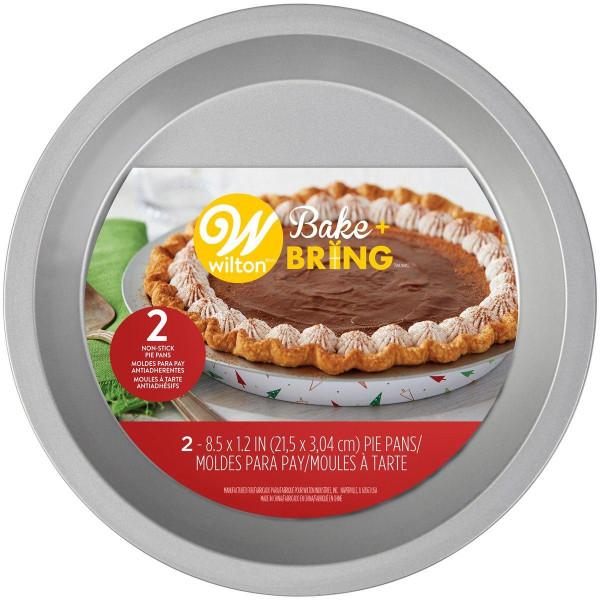 Engångsform 2-Pack Semi-Disposable Tin Pie Pan Xmas - Wilton flerfärgad