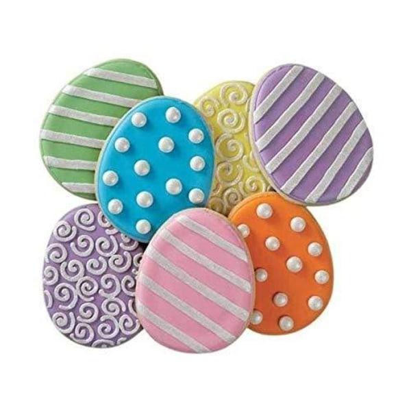 Utstickare 4-pack Hare Ägg Blomma - Wilton flerfärgad