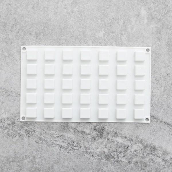Fyrkanter 35st Silikonform Mousseform Pralinform