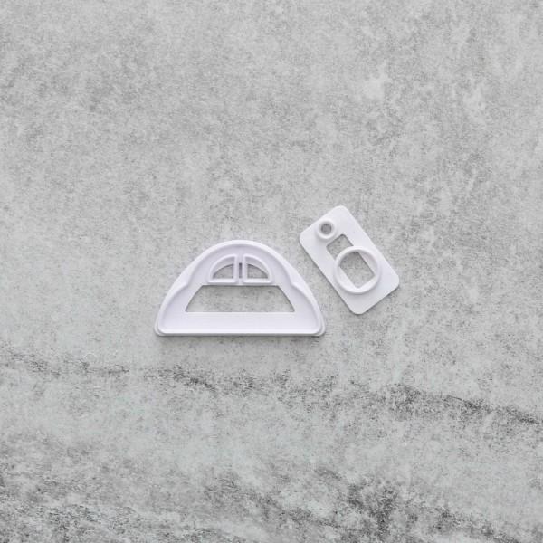 Bil Utstickare 2 delar Car vit