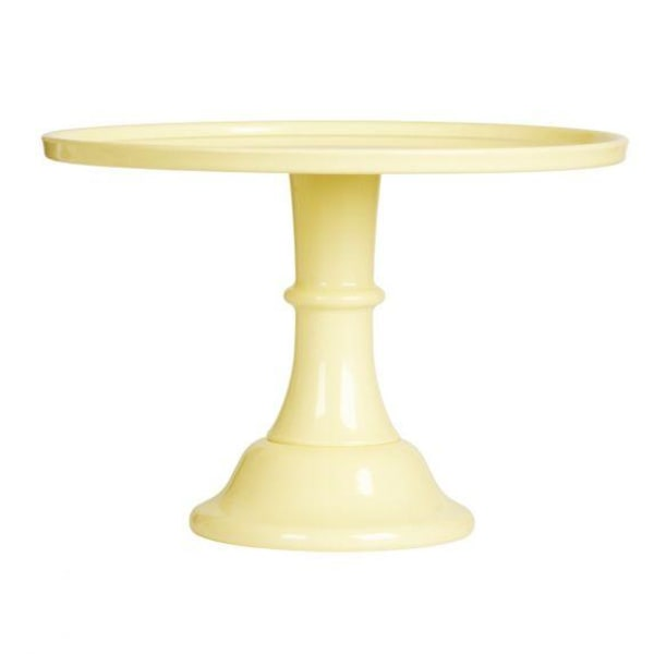 Tårtfat Ø 30cm Gul/Yellow – A Lovely Little Company gul