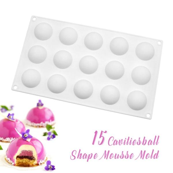Halvklot 15st SIlikonform | Mousseform Chokladform multifärg