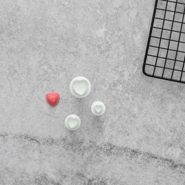 Hjärtan Utstickare 3st | Plunger multifärg