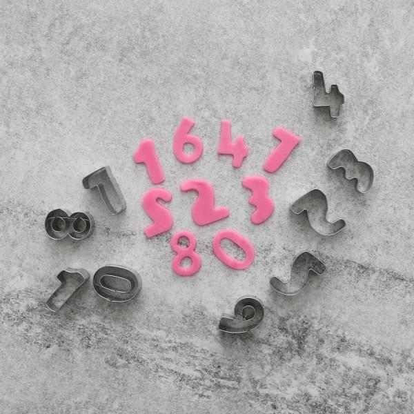 Siffror 0-9 Utstickare 10st | Rostfritt Stål  Brun