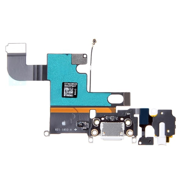 iPhone 6 Laddkontakt & hörlurskontakt med flexkabel - Vit