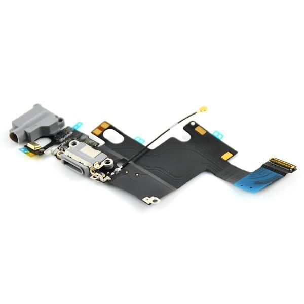 iPhone 6 Laddkontakt & hörlurskontakt med flexkabel - Svart