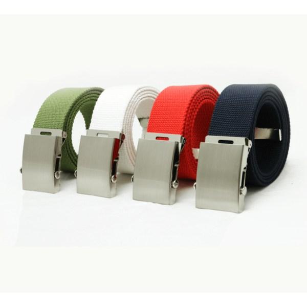Textilbälte i beige, olivgrön, svart,vit eller marin Black Svart