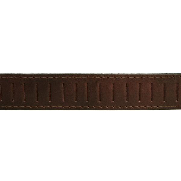 Brunt Läderbälte 85 cm (midjemått)