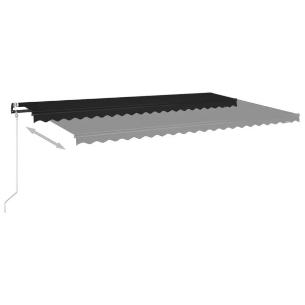 vidaXL Automatisk markis med vindsensor & LED 500x350 cm antraci Antracit