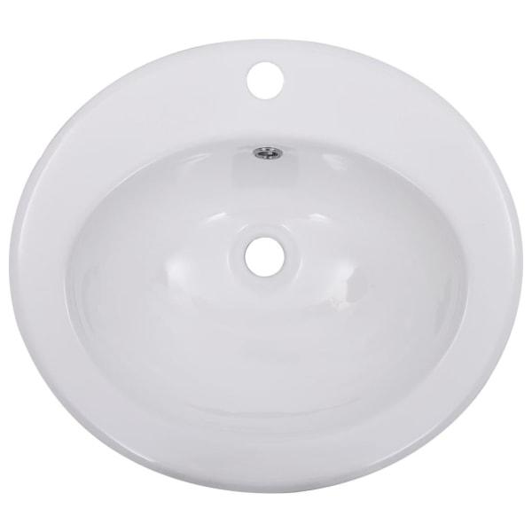 vidaXL Inbyggt handfat 51x45,5x19,5 cm keramik vit Vit