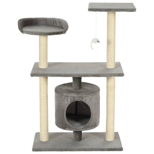 vidaXL Katt klösträd med klöspelare i sisal 95 cm grå Grå