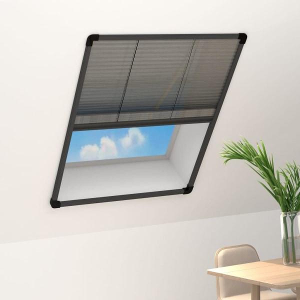 vidaXL Plisserat insektsnät för fönster antracit 80x100 cm alumi Antracit