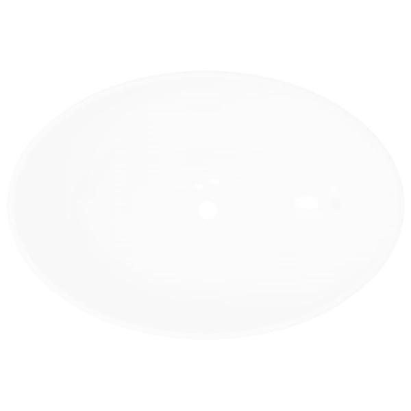 vidaXL Handfat ovalt 40 x 33 cm keramisk vit Vit