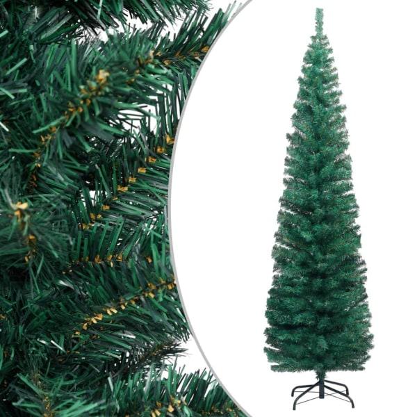 vidaXL Smal plastgran med fot grön 240 cm PVC Grön