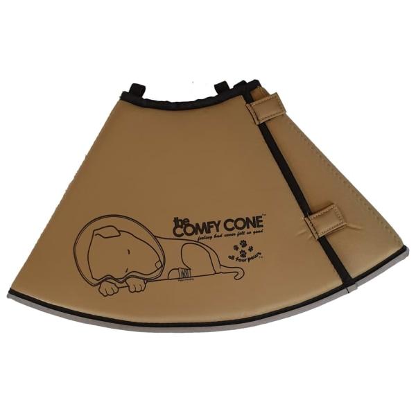 All Four Paws Djurkrage Comfy Cone M 20 cm brun Beige