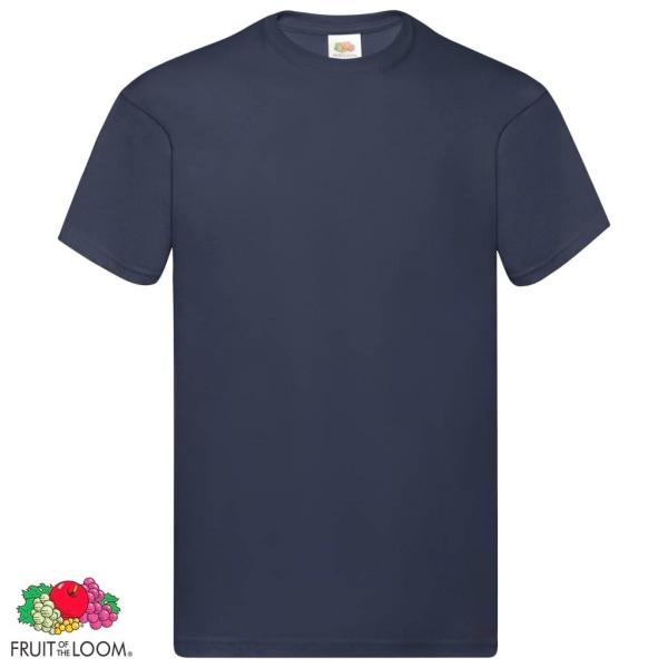 Fruit of the Loom Original t-shirt 5-pack mörk marinblå stl 3XL  Blå