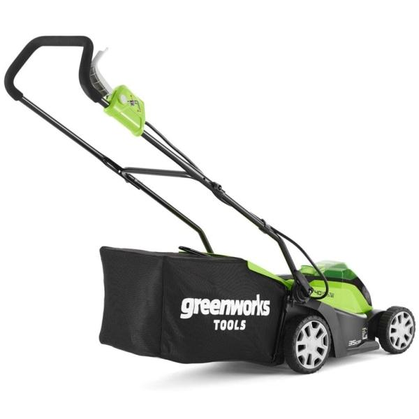 Greenworks Gräsklippare med 2x40 V 2 Ah-batterier G40LM35 250190 Flerfärgsdesign