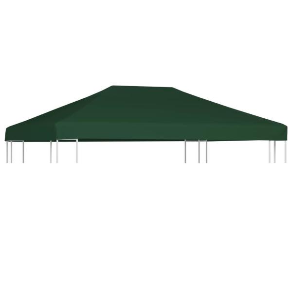 vidaXL Paviljongtak 310 g/m² 4x3 m grön Grön