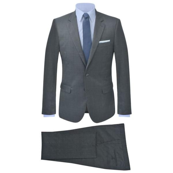vidaXL Tvådelad kostym herrar strl. 54 rutig antracit Grå