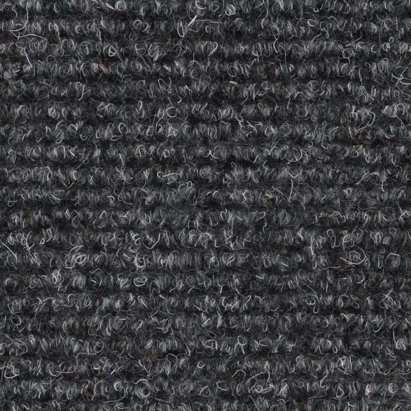 vidaXL Trappstegsmattor självhäftande 15 st brodyr 54x16x4 cm lj Grå
