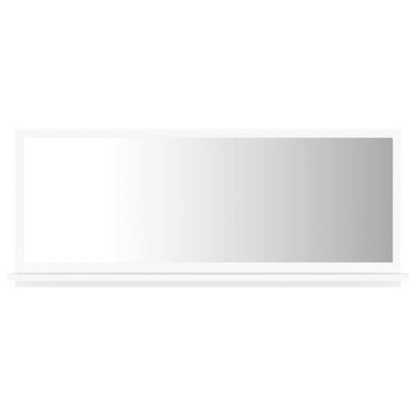 vidaXL Badrumsspegel vit 90x10,5x37 cm spånskiva Vit
