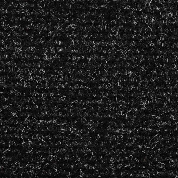vidaXL Trappstegsmattor självhäftande 15 st brodyr 54x16x4 cm mö Grå