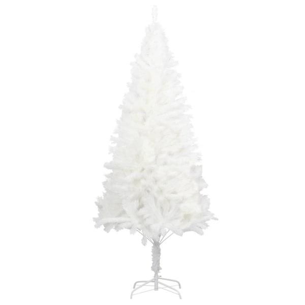 vidaXL Plastgran verklighetstrogna barr vit 240 cm Vit