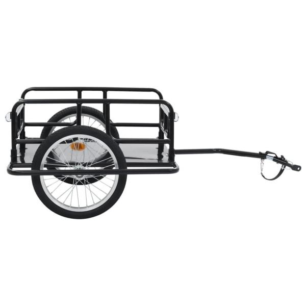 vidaXL Cykelvagn 130x73x48,5 cm stål svart Svart